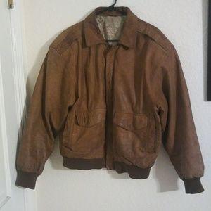 💚Vintage💚 Leather Top Gun Aviator Jacket Bomber
